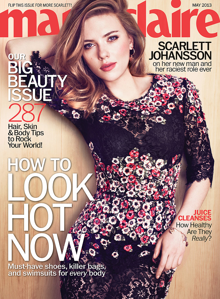 Scarlett Johansson is Marie Claire's May cover girl.