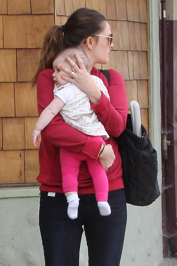 Drew Barrymore sported jeans and a sweater on her way to brunch.