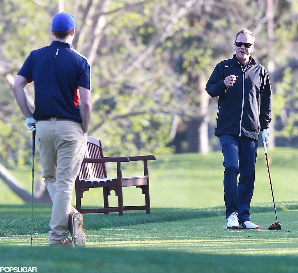 Justin Timberlake and Kiefer Sutherland hit the golf course together.