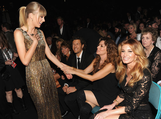 Taylor Swift was delighted to chat with Shania Twain in the audience at the ACM Awards. In case you missed it, see all the highlights from the ACM Awards.
