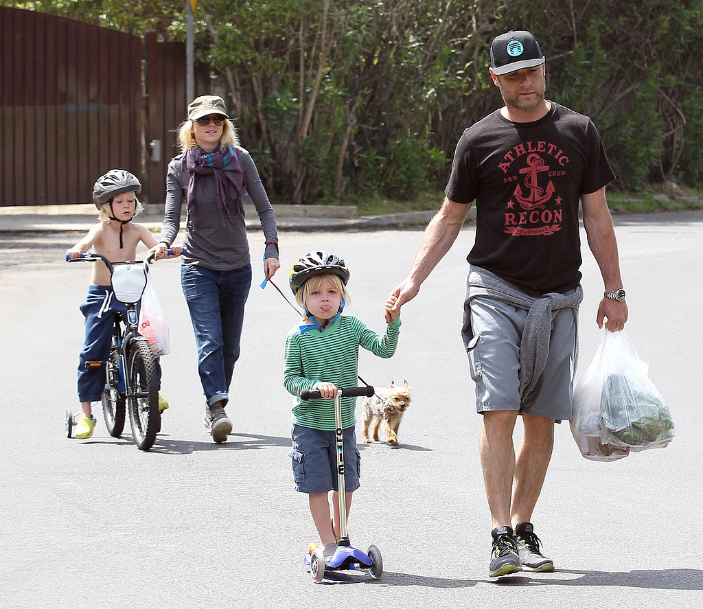 Naomi Watts Spends an Active Weekend With Her Men in LA