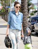 Miranda Kerr and Flynn Bloom walked around in LA.