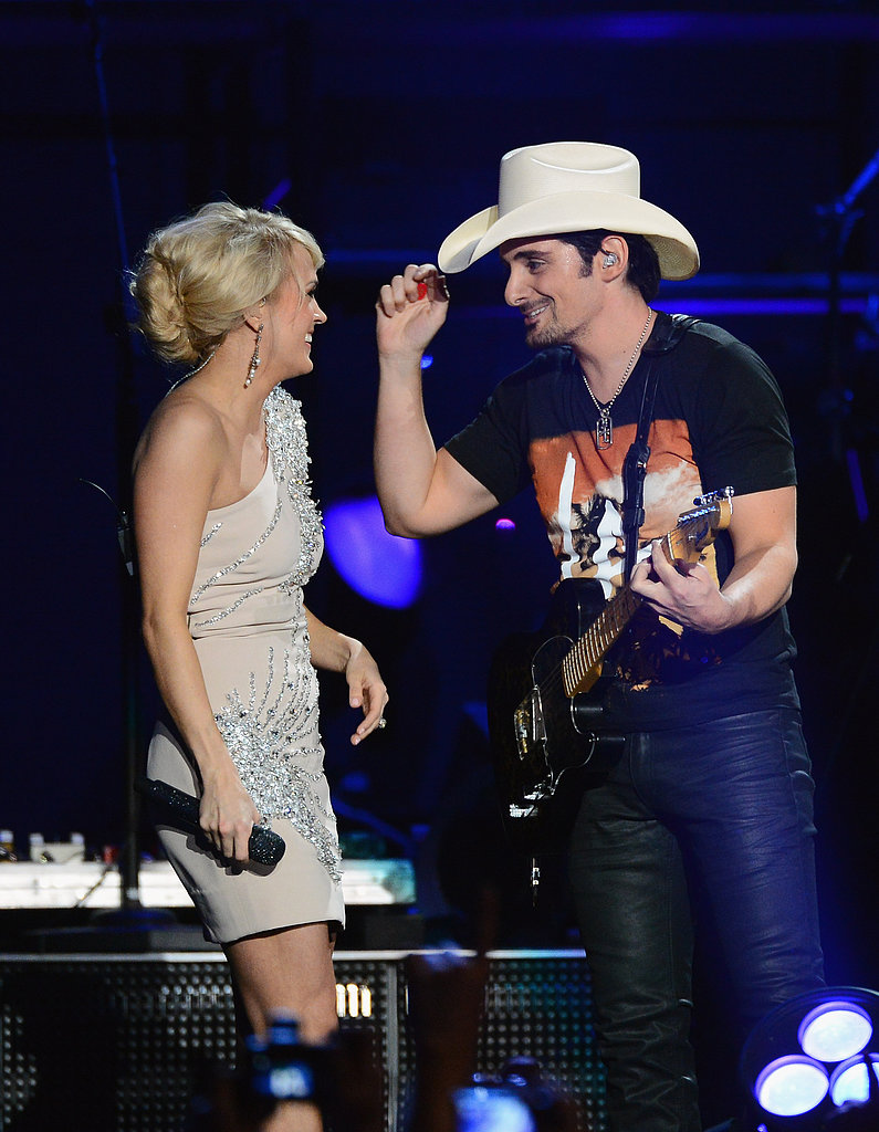 Carrie Underwood sang with Brad Paisley.
