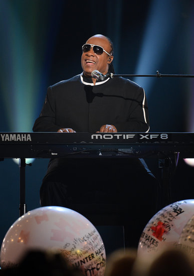 Stevie Wonder made a surprise appearance at the ACM Awards.