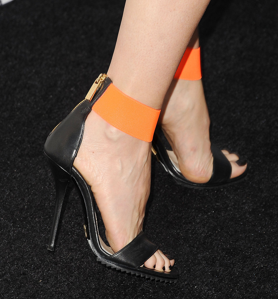 Distinguished detail: the unexpected neon orange straps.