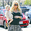 Jessica Simpson and Maxwell Johnson&#039;s Leopard Style