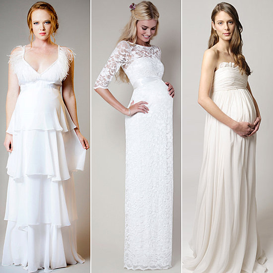 here comes the bride and baby 12 wedding dresses for moms to be