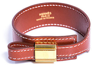 Hermes Vintage Leather wrap cuff