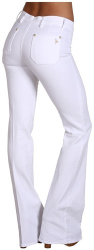 MiH Jeans - Marrakesh Mid-Rise Kick Flare 36 Inseam in White (White) - Apparel