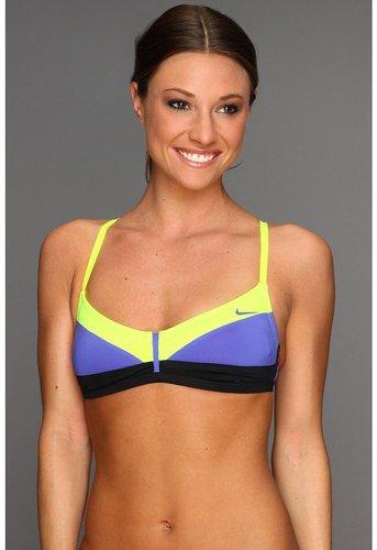 Nike - Bondi Block Swim Sport Bra (Violet Force) - Apparel