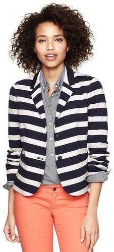 Striped ponte academy blazer