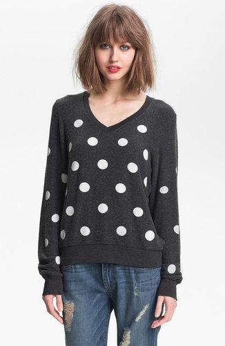 Wildfox Polka Dot Sweatshirt