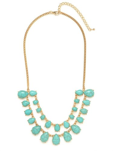 Tiered Turquoise Bib