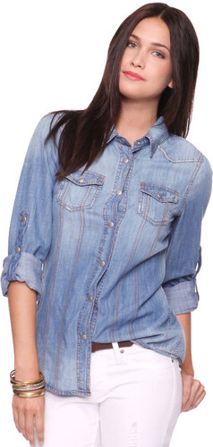 FOREVER 21 Life In ProgressTM Chambray Shirt