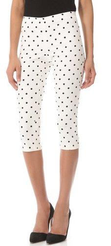 Alice + olivia Polka Dot Capri Pants