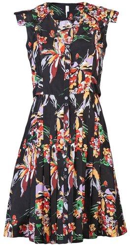 10 Crosby By Derek Lam Floral short sleeve dress