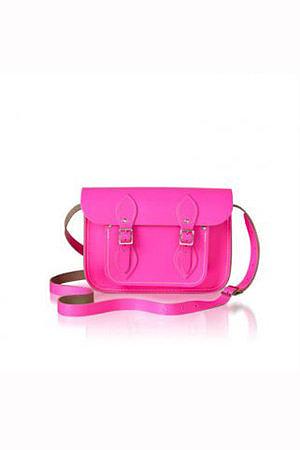 Cambridge Satchel Fluoro Pink