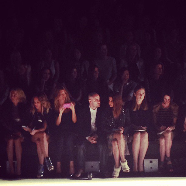 Sitting front row at Camilla and Marc: Pip Edwards, Tanja G, Josh Goot and Christine Centenera. Source: Instagram user intersectionpad