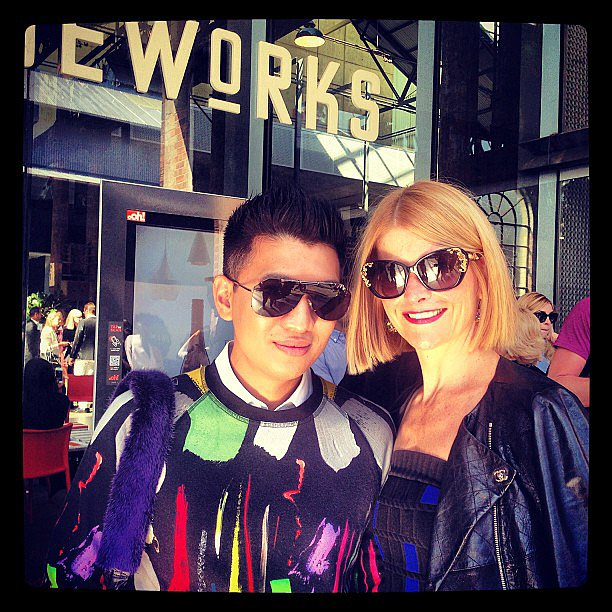 Blogger and style setter Bryanboy met up with Australian Harper's Bazaar editor, Kellie Hush. Source: Instagram user bazaaraustralia