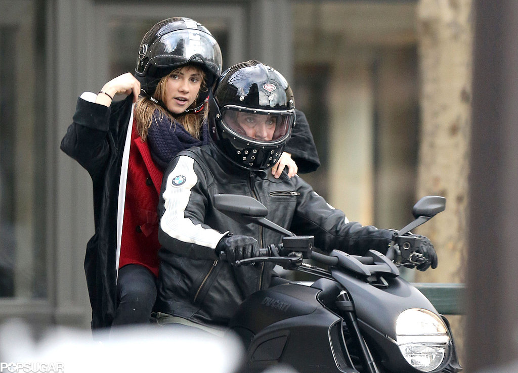 Bradley Cooper and Suki Waterhouse rode a motorcycle in Paris.