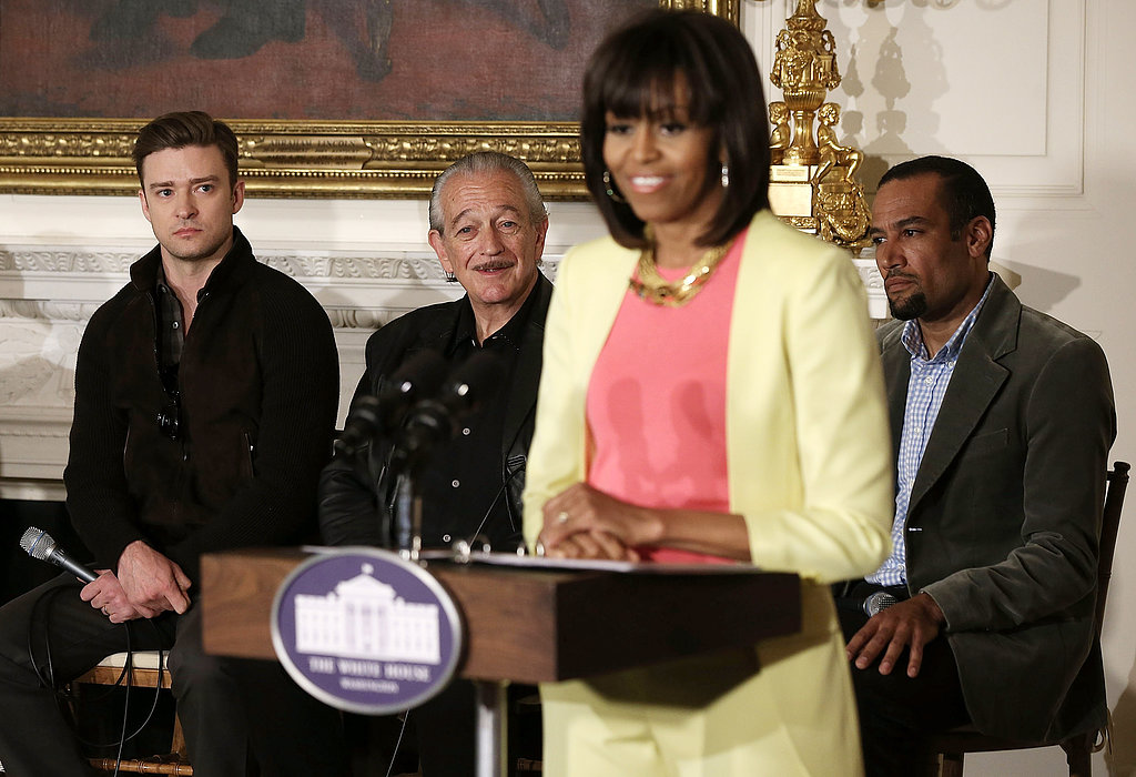 Justin Timberlake popped up at the White House to take part in Michelle Obama's Soulsville, USA: The History of Memphis Soul event.