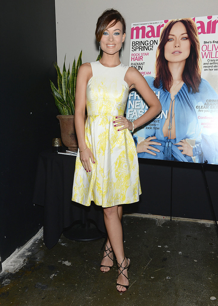 Olivia Wilde attended a party for Marie Claire.