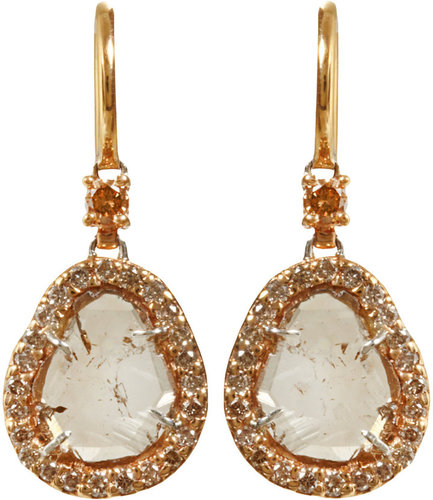 Sharon Khazzam Brown Diamond Slice Earrings