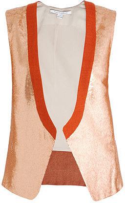 Diane Von Furstenberg Joline sequinned waistcoat