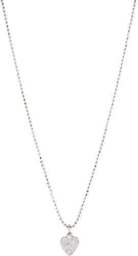 Jennifer Meyer Pave Diamond Heart Pendant Necklace