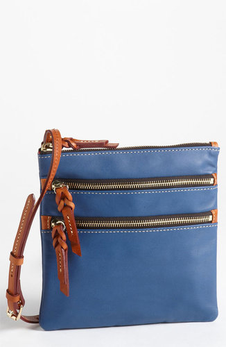 Dooney & Bourke Triple Zip Leather Crossbody Bag