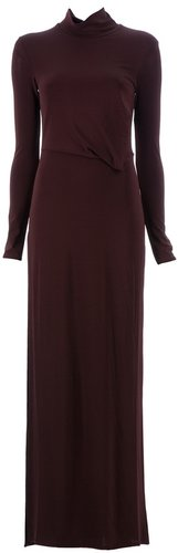 Neil Barrett Side slit maxi dress