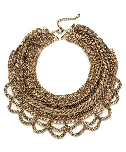 Gold Multi-Chain Bib
