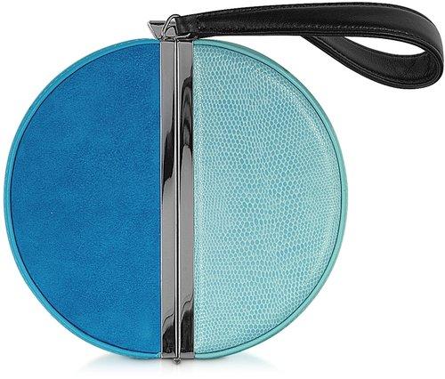 Diane Von Furstenberg Color Block Circle Box Clutch
