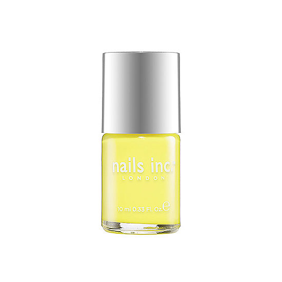 Catching a glimpse of Nails Inc.'s polish in Belsize Park ($10) on your toes will make any day feel a little more sunny.