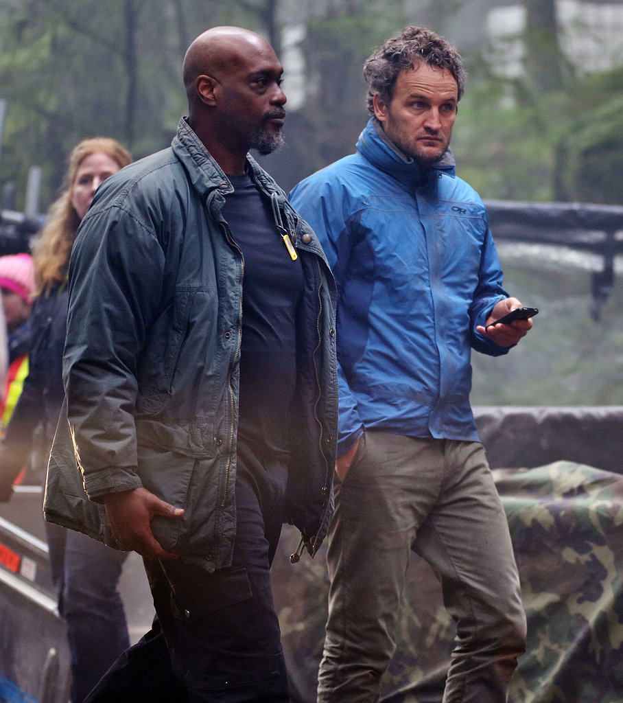 Jason Clarke hit the set with Keri Russell in Vancouver.