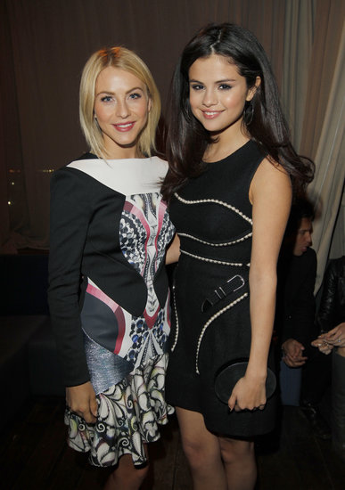 Selena Gomez and Julianne Hough hung out together at the London Show Room's opening party in LA.