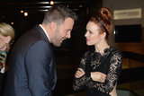 Ben Affleck chatted with Rachel McAdams.