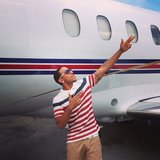 Ludacris and his plane wore matching stripes. Source: Instagram user itsludacris