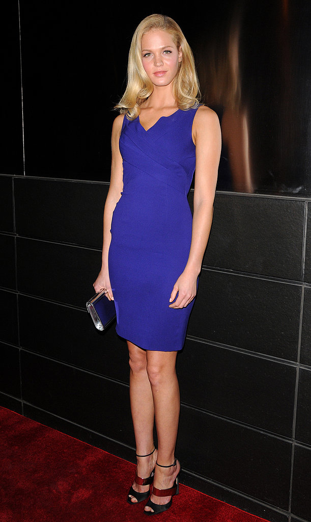 Erin Heatherton wore a tight blue dress for the New Yorkers for Children dinner in NYC.