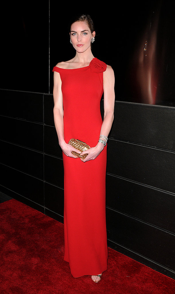 Hilary Rhoda stunned in red for the New Yorkers for Children dinner in NYC.