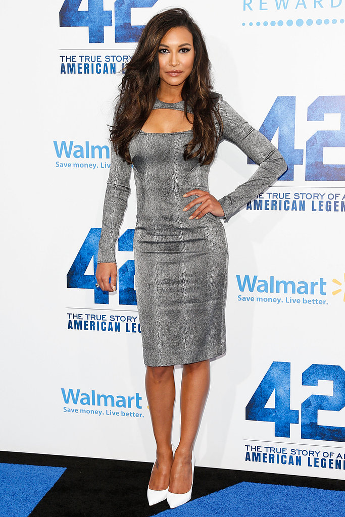 Naya Rivera stepped out for the premiere of 42 in LA.