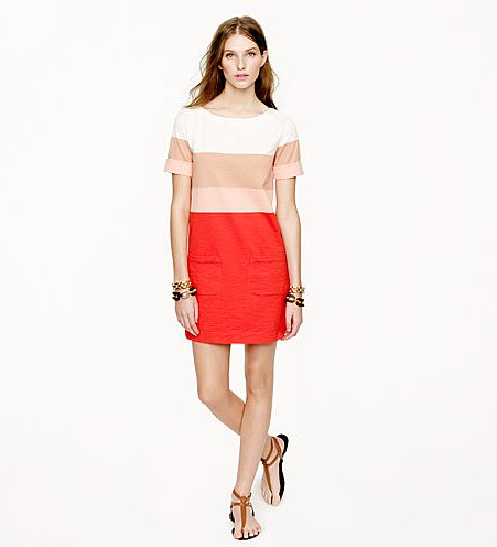 J.Crew's colorblocked shift dress ($88) is easy to dress up or down — just switch up your accessories.