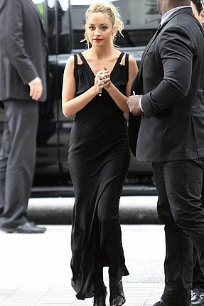 Winter Kate Barbel Lace-Trim Maxi Dress in Black