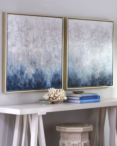 """""""Frost on Sapphire"""" Paintings"""