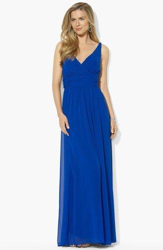 Lauren Ralph Lauren Embellished Georgette Gown