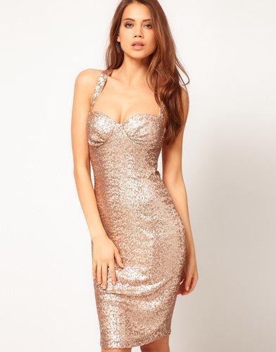 ASOS Sexy Body-Conscious Dress In Sequin