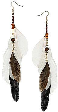 Tribal feather earrings