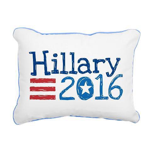 Hillary 2016 flag rectangular canvas pillow ($19)