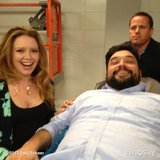 Paul Scheer shared a picture of Natasha Lyonne and Horatio Sanz on the set of his show NTSF:SD:SUV::. Source: Instagram user paulscheer
