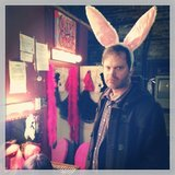 Rainn Wilson wished you a happy Easter from backstage. Source: Instagram user rainnwilson